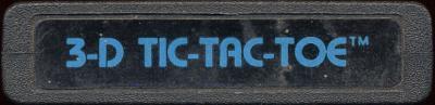 3D Tic-Tac-Toe - Cartridge Scan