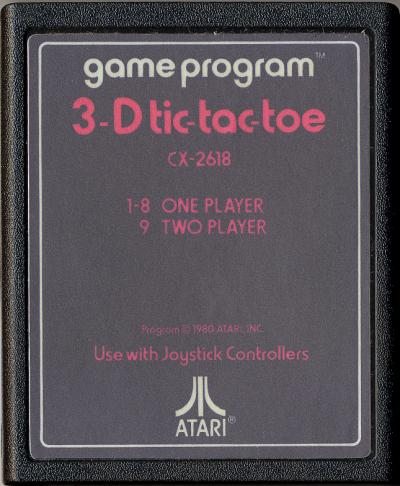 3D Tic-Tac-Toe - Cartridge Scan