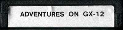 Adventures on GX-12 - Cartridge Scan