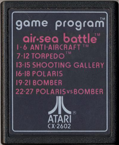 Air-Sea Battle - Cartridge Scan
