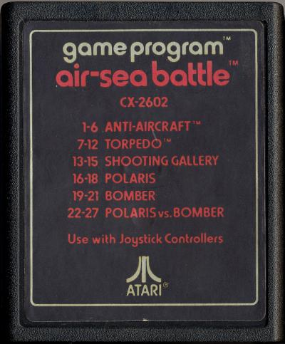 Air-Sea Battle - Cartridge Scan