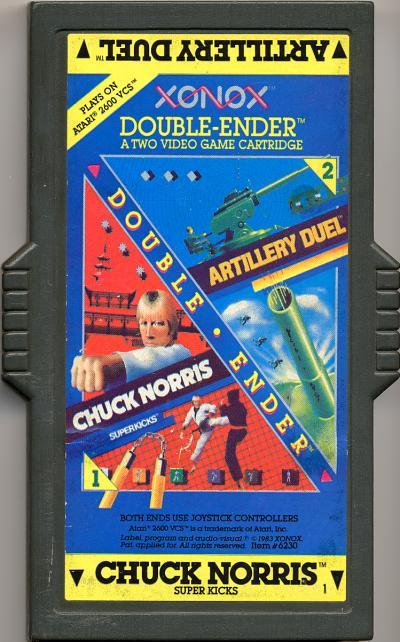 Artillery Duel/Chuck Norris Superkicks - Cartridge Scan