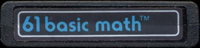 Basic Math - Cartridge Scan