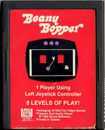 Beany Bopper - Cartridge Scan