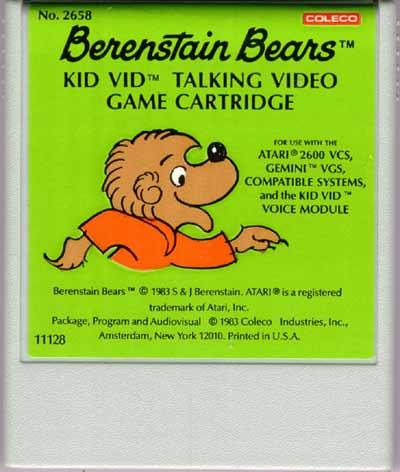 Berenstain Bears - Cartridge Scan