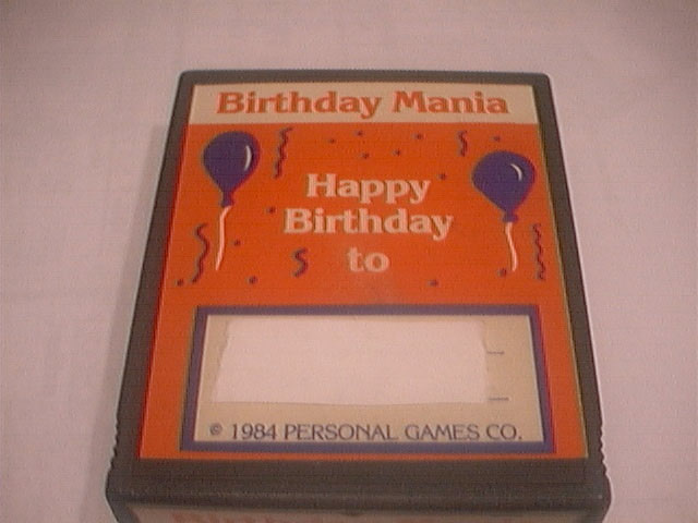 Birthday Mania - Cartridge Scan