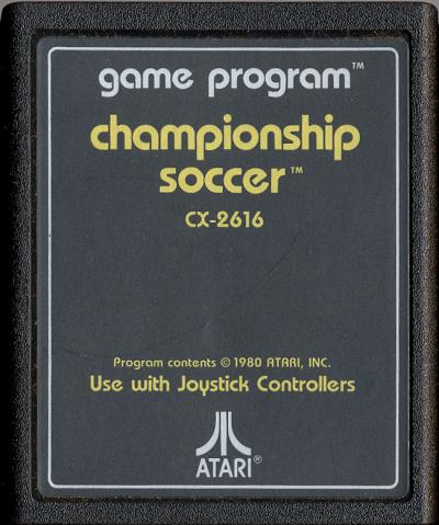 Championship Soccer - Cartridge Scan
