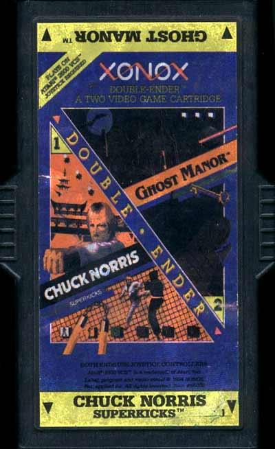 Chuck Norris Superkicks/Ghost Manor - Cartridge Scan