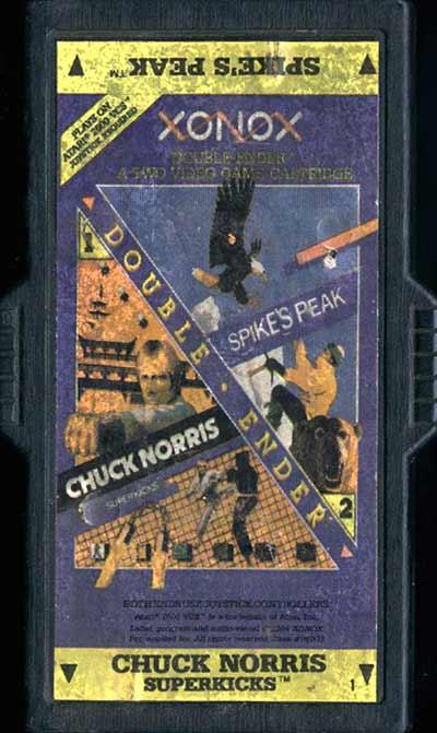 Chuck Norris Superkicks/Spike's Peak - Cartridge Scan