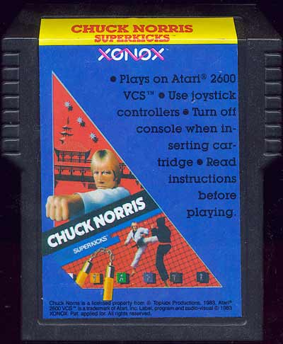 Chuck Norris Superkicks - Cartridge Scan