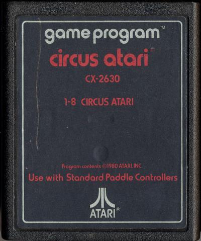 Circus Atari - Cartridge Scan