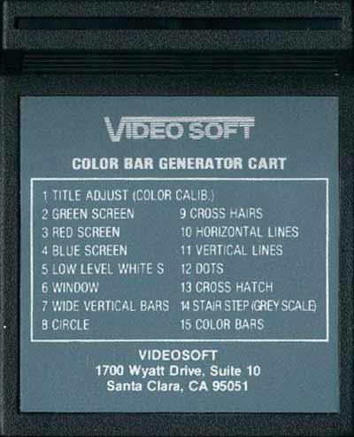 Color Bar Generator - Cartridge Scan