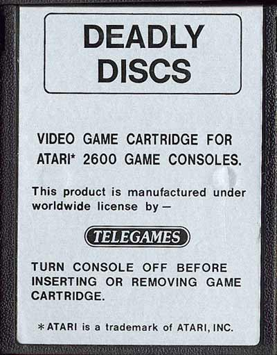 Deadly Discs - Cartridge Scan