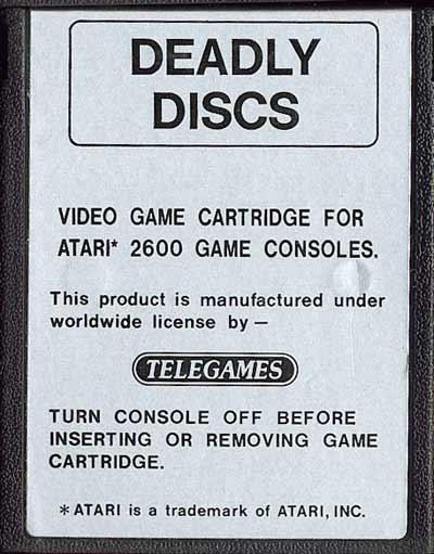 Deadly Discs - Cartridge Scan