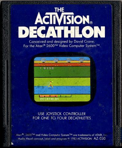 Activision Decathlon, The - Cartridge Scan