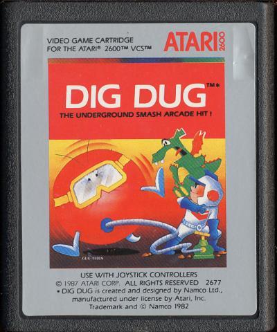 Dig Dug - Cartridge Scan