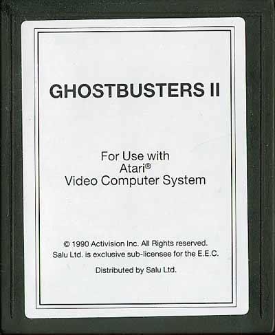 Ghostbusters II - Cartridge Scan