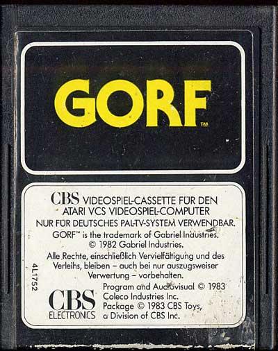 Gorf - Cartridge Scan