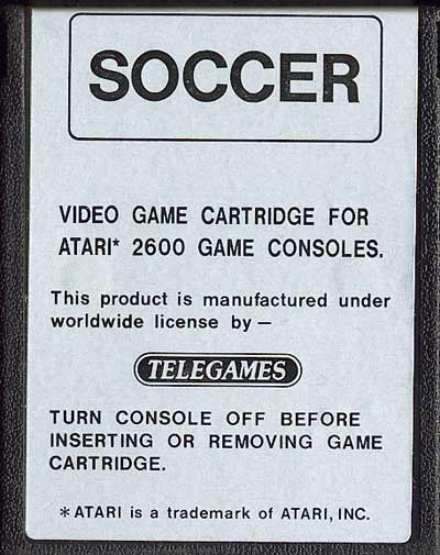 International Soccer - Cartridge Scan
