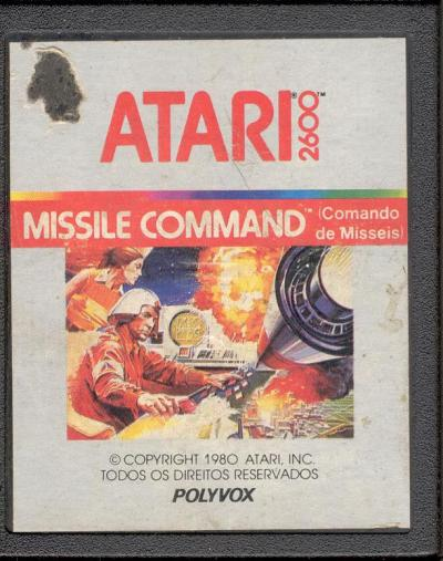 Missile Command (Commando du Missels) - Cartridge Scan
