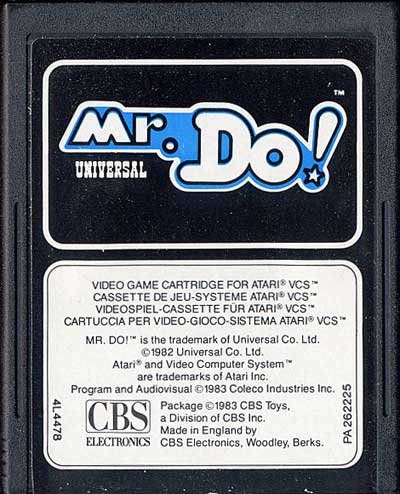 Mr. Do! - Cartridge Scan