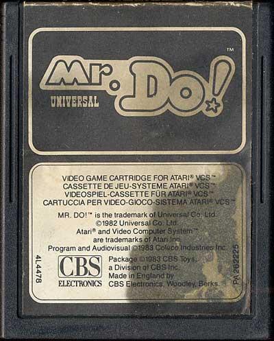 Mr. Do! - Cartridge Scan