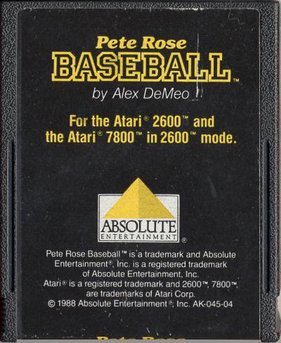 Pete Rose Baseball - Cartridge Scan