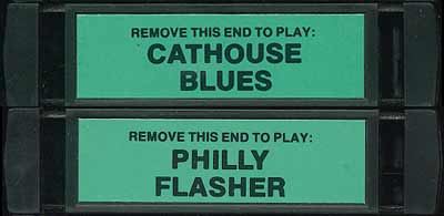 Philly Flasher/Cathouse Blues - Cartridge Scan