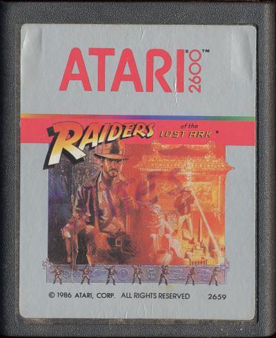 Raiders of the Lost Ark - Cartridge Scan