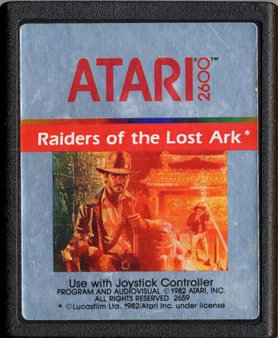 Raiders of the Lost Ark - Cartridge Scan