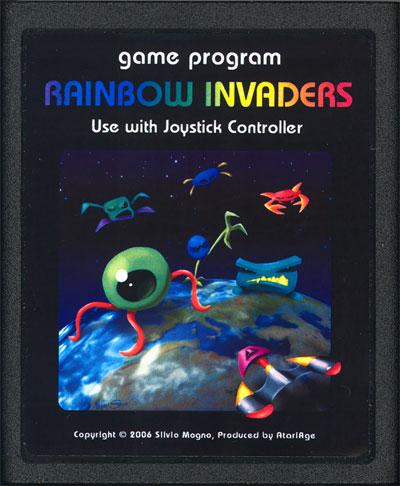 Rainbow Invaders - Cartridge Scan