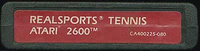 RealSports Tennis - Cartridge Scan