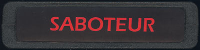 Saboteur - Cartridge Scan