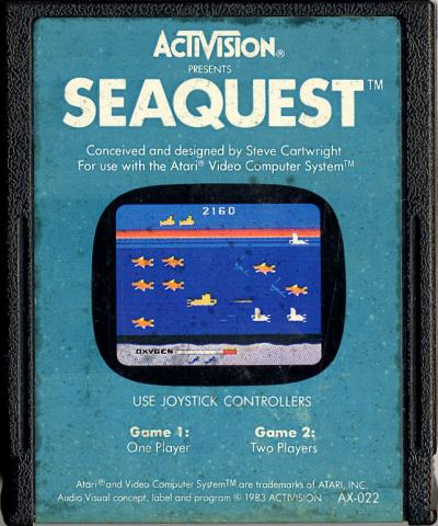 Seaquest - Cartridge Scan