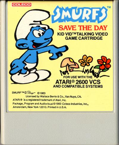 Smurfs Save the Day - Cartridge Scan