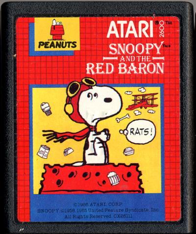 Snoopy and the Red Baron - Cartridge Scan