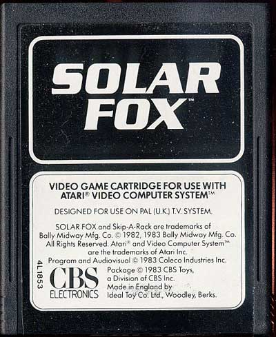 Solar Fox - Cartridge Scan