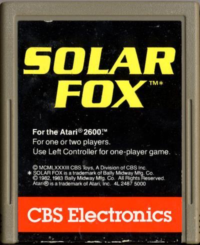 Solar Fox - Cartridge Scan