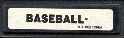 Super Challenge Baseball - Cartridge Scan