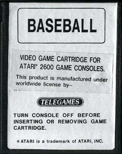 Super Challenge Baseball - Cartridge Scan