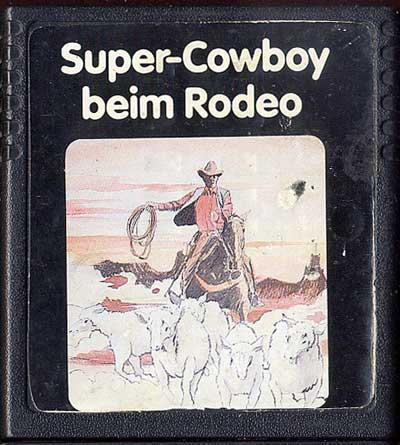 Super-Cowboy beim Rodeo - Cartridge Scan