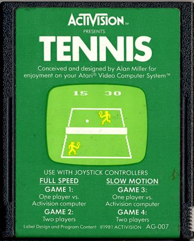 Tennis - Cartridge Scan