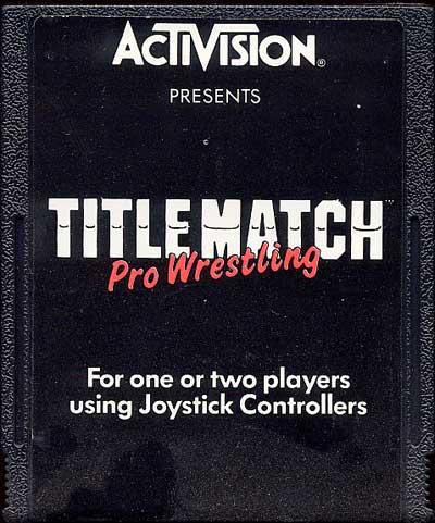 Title Match Pro Wrestling - Cartridge Scan