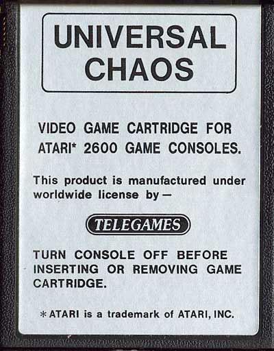 Universal Chaos - Cartridge Scan