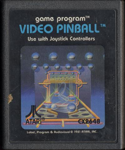 Video Pinball - Cartridge Scan