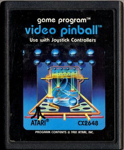 Video Pinball - Cartridge Scan