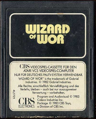 Wizard of Wor - Cartridge Scan