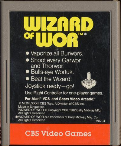 Wizard of Wor - Cartridge Scan