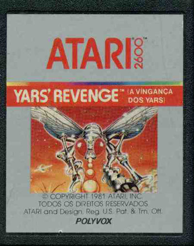 Yars' Revenge (A Vinganca dos Yars) - Cartridge Scan