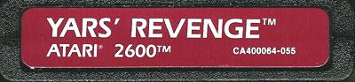 Yars' Revenge - Cartridge Scan